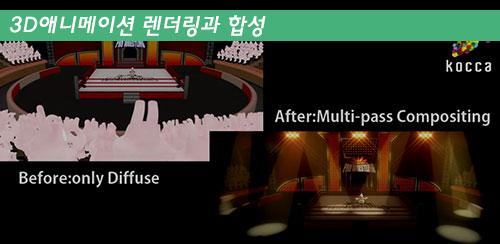 애니메이션 기획제작 워크숍 7 - 3D 애니메이션 렌더링과 합성