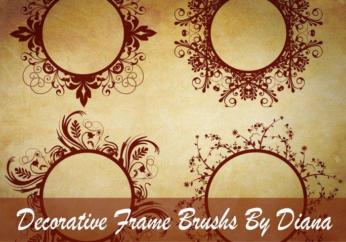 [브러쉬] Decorative Swirl Frame Brushes