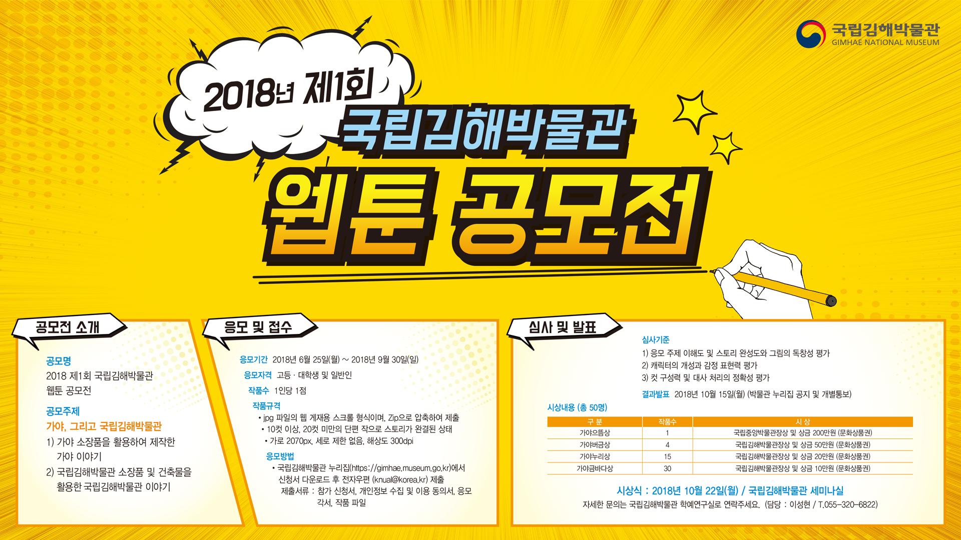 「2018 제1회 국립김해박물관 웹툰」 공모전 개최