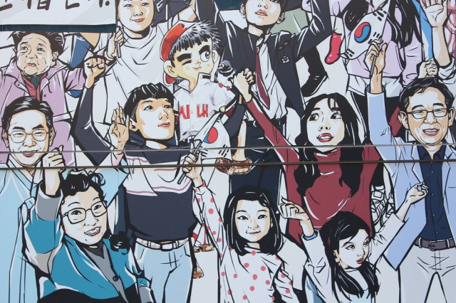 남기영 작가의 '시민 캐리커처'