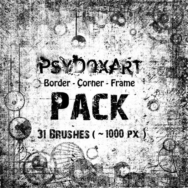 [브러쉬] Psy Dox Art Border - Corner Brushes pack vol.1