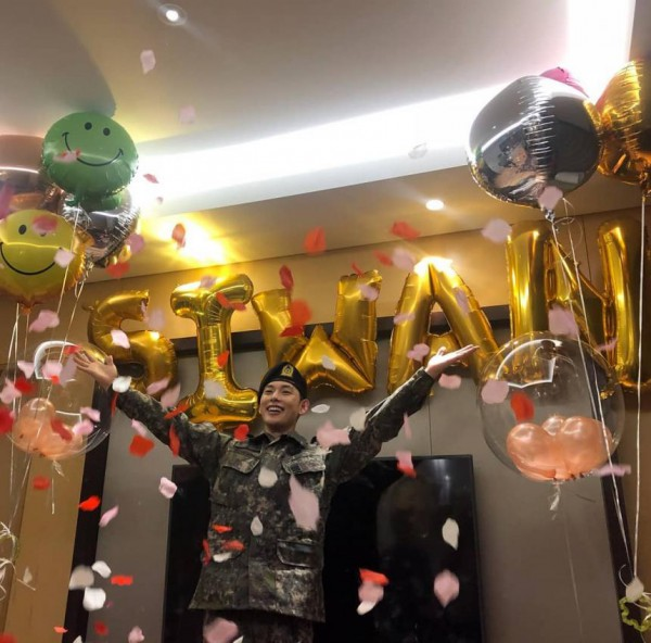 임시완 전역 축하 파티