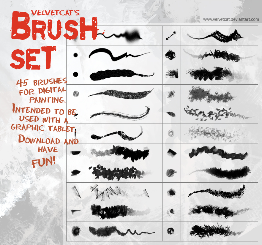 [브러쉬] Velvetcat's Brush Set