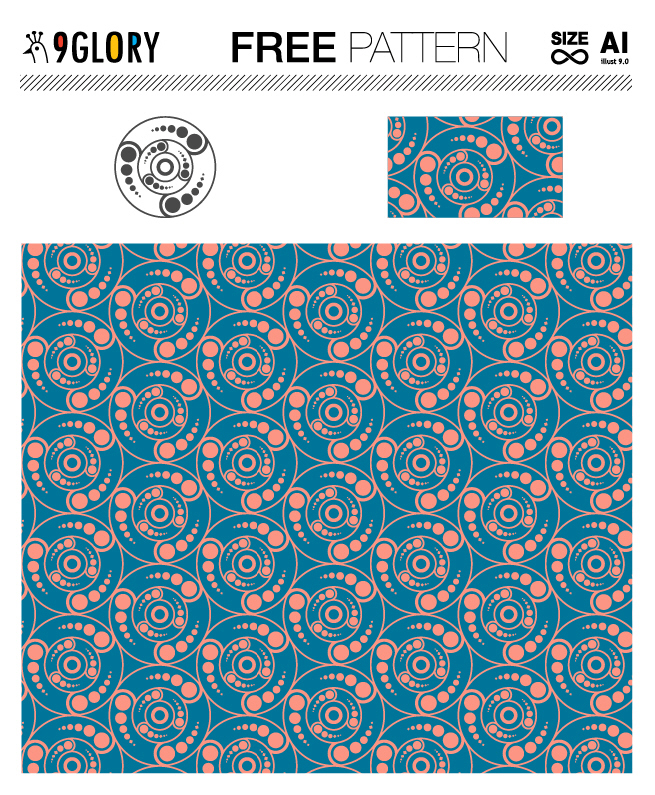 [패턴] 미스터리 서클 패턴 디자인 3