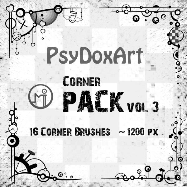 [브러쉬] Psy Dox Art Border - Corner Brushes pack vol.3