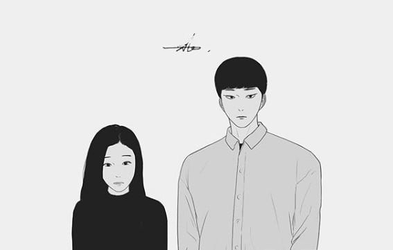 다음웹툰 '에스키스 ' 한소라(좌)와 정시인(우)