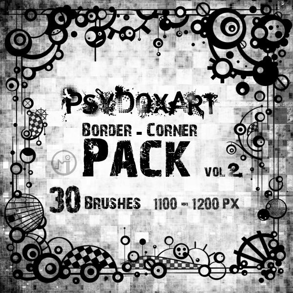 [브러쉬] Psy Dox Art Border - Corner Brushes pack vol.2