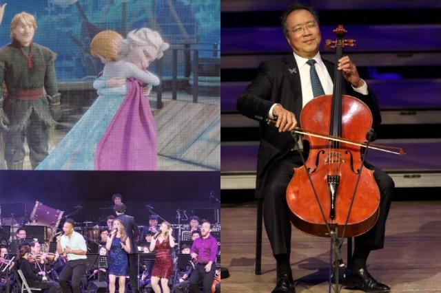 디즈니 인 라이프'(왼쪽)와 '요요 마 바흐 프로젝트'(사진제공=크레디아)