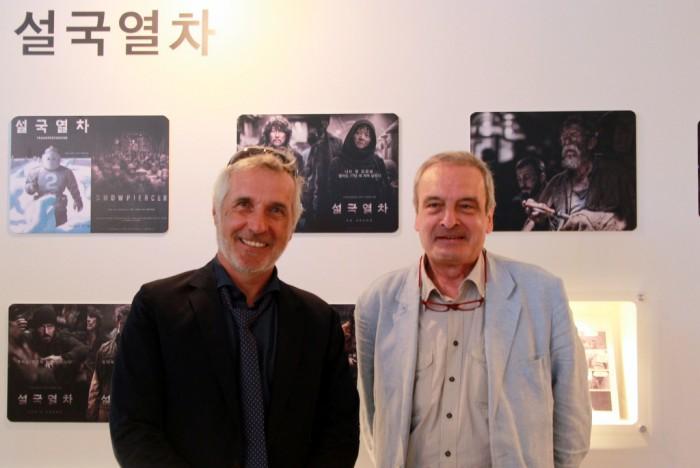 의 두 원작자. 왼쪽부터 그림작가인 장마르크 로셰트, 스토리작가인 뱅자맹 르그랑.