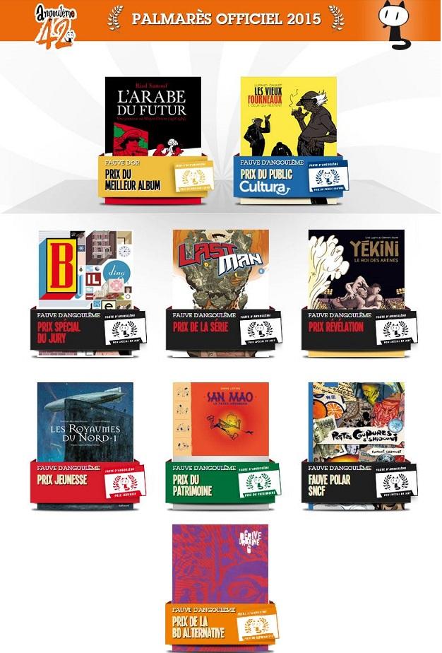 제42회 앙굴렘 국제만화페스티발 수상작들. 이미지는 앙굴렘 페스티벌 홈페이지에서