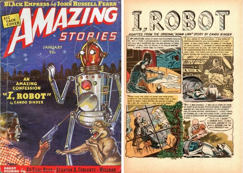 오토 빈더의 아이 로봇 소설과 만화