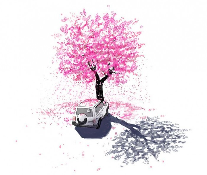 잔인한 축제 벚꽃 나무