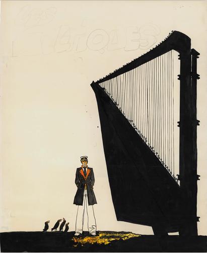 이태리 작가 휴고 프라트(Hugo Pratt)의 『코르토 말테제(Corto Maltese)』 시리즈 중'켈트족(Les Celtitique)'편의 표지. 1980년 작, 315,000 유로에 판매