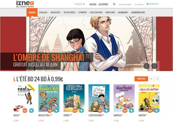 프랑스-벨기에 출판사 연합 디지털 만화 사이트, '이즈네오(Izeno)'. 오프라인에서 서적을 구매하는 것보다 저렴한 가격에, 편리하게 작품을 감상할 수 있다.
