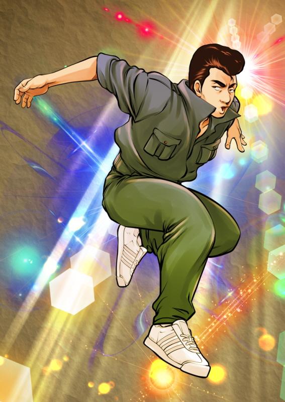 『젊음의 행진』의 주인공 마장식. 80년대에 백댄서로 활동했으나 그 후 오랜 세월 춤을 잊고 살았다. 그러다 어떤 계기로 인해 다시 춤을 추기로 결심한다.