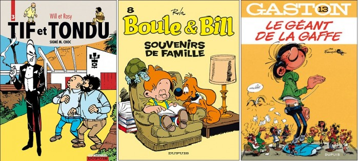 『티프와 통뒤(Tif et Tondu)』 『불과 빌(Boule et Bill)』『갸스통(Gaston)』