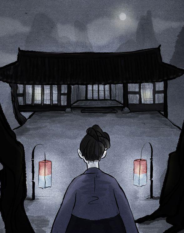 새백산에 위치한 묘진의 집에 각시손님이 찾아들면서 이야기는 시작된다.