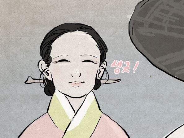 좋은 가문에서 태어났고 아름다운 용모를 지녔음에도 악행으로 즐거움을 얻는 진홍