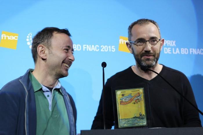 2015년 프낙(FNAC) 최고의 만화상(Prix de la BD) 수상 당시 (왼쪽)그레고리 파나치오네와 (오른쪽)윌프리드 루파노)