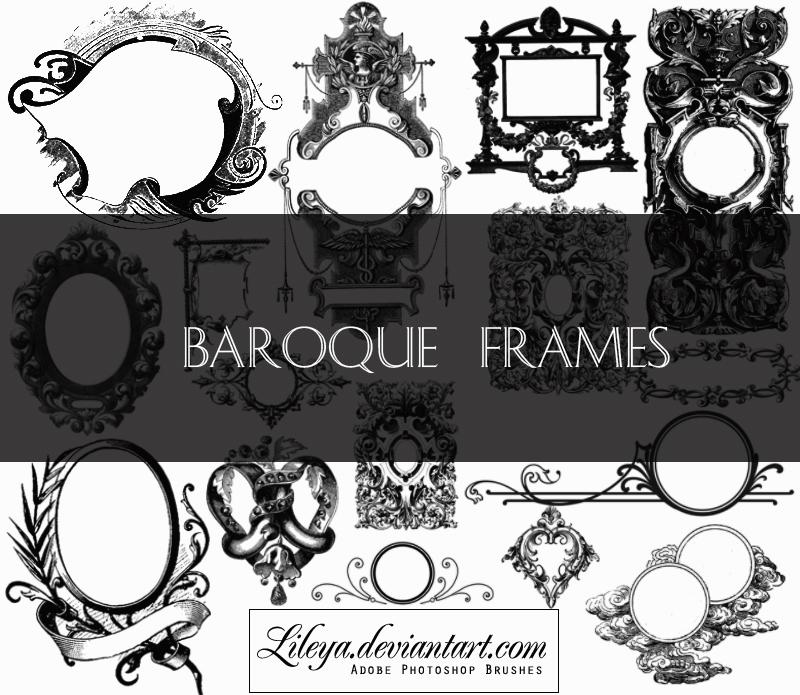[브러쉬] Baroque Frames
