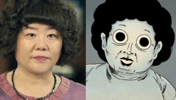 tvN '오 나의 귀신님' 이정은(좌)와 네이버웹툰 '타인은 지옥이다' 고시원 아주머니(우)
